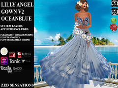 Lilly Angel Gown Oceanblue (Zed Sensations) Tags: vsfusion tonic curvy fine physique hourglass pulpy slim mesh project brazilia gown formal dress cocktail elegant ebody evening valentine easter roleplay apparel fairy fashion zed sensations eve slink belleza isis freya venus maitreya tmp sking