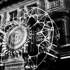 wheel (s_inagaki) Tags: wheel snap window reflection blackandwhite bnw bw tallinn estonia