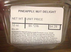 "RECALLED - ""Ron's Home Style Foods, Inc. Recalls Tropical Fruit Supreme, Pineapple Nut Delight, and Pistachio Crème Because Of Possible Health Risk"", Dec 15, 2016 (The U.S. Food and Drug Administration) Tags: foodsafety rons home style foods golden harvest texas kitchen salads brookshires salmonella"