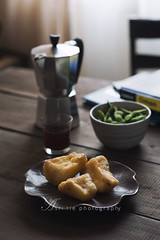 fried cassava (asri.) Tags: 2017 darkbackdrop homemade foodstyling foodphotography 85mmf14