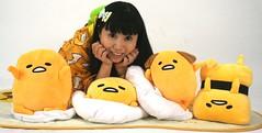 Eggland's Beaut. (emotiroi auranaut) Tags: cute adorable women lady girl pretty beauty beautiful fun pillows gudetama egg costume eggs character characters idol singer japan japanese asia asian sanrio pajamas