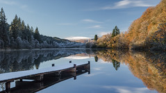 Aumtumn vs Winter reflections at Loch Ard (Scott Morrison |) Tags: scotland lochard reflections autumn winter landscape