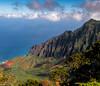 Hidden Beauty (Doreen Bequary) Tags: kalalauvalley kalalau napalicoast kauai mountain mountainside rockycoastline hawaii gardenisland jurassicpark ocean clouds cliff seacliffs seascape landscape rock