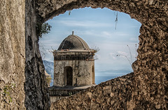 The view beyond the walls (Jenny Pics) Tags: view framing frame walls stone stonework sky ocean sea texture ravello italy