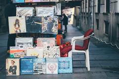 Belgrade Corners (freyavev) Tags: belgrade beograd serbia srbija stand music vinyl retro secondhand tito ekv davidbowie darksideofthemoon pinkfloyd chair street vsco mikasniftyfifty niftyfifty 50mm canon canon700d books ironmaiden