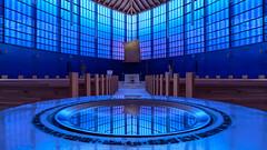 Belief in a modern world (Karsten Gieselmann) Tags: 714mmf28 architektur bayern blau braun deutschland em5markii farbe hdr mzuiko microfourthirds olympus sakralbauten stpeter wenzenbach architecture blue brown color kgiesel m43 mft