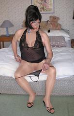 Amyblaneg-003 (fionaxxcd) Tags: crossdresser crossdressing xdressing m2f mtf transvestite trannie tranny breasts bust tatoo pinknails stilettos blackteddy highheels thong redlipstick bangles sandals