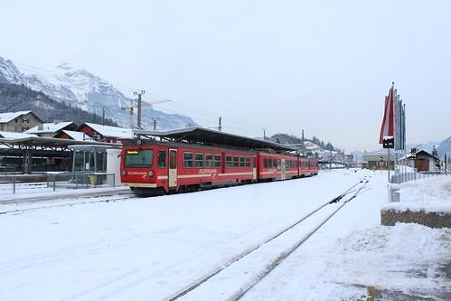 Treinstel Zillertalbahn te Jenbach