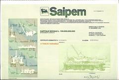 SAIPEM (scripofilia) Tags: 1969 azioni saipem