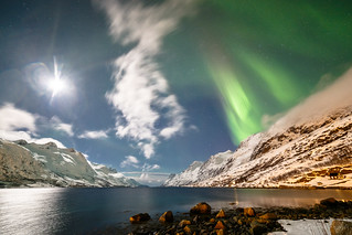 northern lights over ersfjordbotn