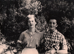 Two women (Boobook48) Tags: foundphoto lady woman two checks stripes