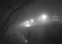 Foggy night (Boris Z.) Tags: night morrisville trenton delavare fog river bridge