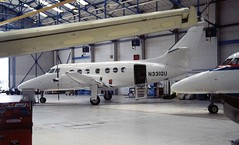 N331QU. British Aerospace Jetstream 3101 (Ayronautica) Tags: n331qu britishaerospacejetstream3101 jetstream31 turboprop prestwick egpk pik 804 scanned aviation ayronautica may 1988 whitetail