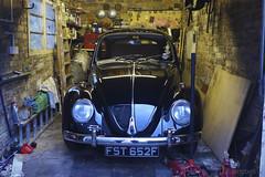 Fester came home (Dave S Campbell) Tags: volkswagen vw beetle bug restoration respray resto retro kafer type1 black 1967 sparkafer garage