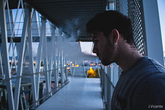 Smoking (kikivh96) Tags: murcia mirror smoke up lights girl models model shoes converse photography way canvas black smile hair inception stairs dreaming corridor shot grill shadow patch balcony makeup prism unstable film contrast architecture moving