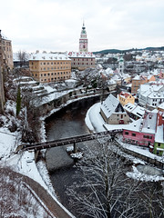 A cold winter day at Cesky Krumlov, Czech Republic