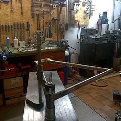Braze - check - braze - check... #framebuilding