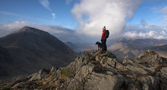 On Top of Haystacks (Nick Landells) Tags: haystacks top summit walker fell walking dog labrador highcrag winter sunny atop ontop