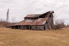 Sagging A Bit More (nikons4me) Tags: old barn iowa ia sagging decay decaying windmill clouds cloudy rusty tin nikonafsdx18200mmf3556gifedvr nikond200