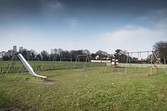 Playground (Number Johnny 5) Tags: tamron d750 2470mm slide empty mundane urban boring banal desolation playground normanston park nikon swings playpark deserted