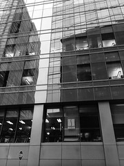 Stop in Boston (Broot Thanks for .88 million views!) Tags: boston urban window skyscraper reflection bw monochrome blackandwhite stop fitness february winter longwood building ambiguity city