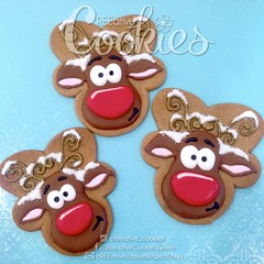 Reindeer Cookies (cREEative_Cookies) Tags: holiday decorated sugar cookies creeative decorating platter holidays festivities party theme desserts thanksgiving give thanks pumpkin pie snowflakes winter wonderland gingerbread house ninjabread grinch stole christmas 3d tree snowmen snowflake snowman turkey face santa claus grumpy cat ornaments icicles rudolph reindeer sunflower art edible yummy food