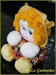 20150818_192132 (Artesanato com amor by Lu Guimaraes) Tags: artesanato fuxico boneca decoração tecido enfeite