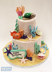 Under the Sea, Fish & Goggles (Swedish Bakery Chicago) Tags: ocean shells fish cakes cake coral turtle underthesea swedishbakery