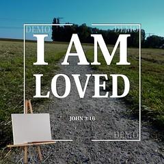 """""""Ik ben geliefd"""" Canvasdoek (Zalving.nl - De Zalfolie Webwinkel) Tags: poster god jesus canvas identity yeshua proclamation doek christelijk christelijke"""