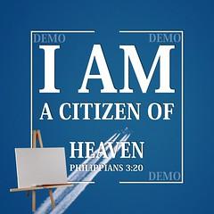 """""""Ik ben een burger van de Hemel"""" Canvasdoek (Zalving.nl - De Zalfolie Webwinkel) Tags: poster god jesus canvas identity yeshua proclamation doek christelijk christelijke"""