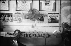 Cardboard Boat Museum (icki) Tags: ohio blackandwhite fan nopeople ohioriver floater southernohio newrichmond cardboardboatmuseum june2015