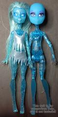 iceA03 (Dirili Art) Tags: ice monster glitter high doll head ooak cam vinyl custom mh sparkling shrunken repaint
