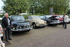 Tatra cars and drivers (Davydutchy) Tags: auto haven holland car port river harbor rotterdam automobile czech harbour rally rear n engine nederland meeting september bil vehicle annual maas shipping hafen paysbas tidal v8 waterway tatra niederlande fleuve nieuwewaterweg 603 aircooled rivier scheepvaart etherlands 2015 pkw trn automobiel t603 flus heckmotor scheur herbsttreffen najaarsmeeting