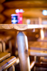 log cabin kitchen #4 (Real Cowboys Drive Cadillacs) Tags: wood vacation orange brown white black color art nature kitchen architecture table relax photography 50mm us photo log cabin nikon raw texas unitedstates bokeh outdoor 14 grain colorphotography logcabin woodgrain burnet woodtable d600 nikond600