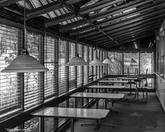 Abandoned Shoney's: Window Seats (that_damn_duck) Tags: abandoned sc lines restaurant blackwhite shadows unitedstates southcarolina columbia shoneys urbex urbanexplorer blackwhitephotos abandonedsouthcarolina