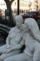 The Village, Christopher Street (ktmqi) Tags: park newyorkcity urban monument bronze greenwichvillage sheridansquare publicsculpture georgesegal
