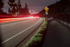 Watch Downhill Speed (Big Hearted Guy) Tags: road sign night speed lights traffic hill downhill taillights d3200