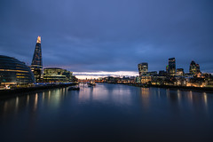 01032015_blue sunset (Chicaco11) Tags: uk travel london thames towerbridge river nikon sigma d750 bluehour 1020mm shard 2015 chicaco11