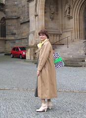 Cathedral (Marie-Christine.TV) Tags: lady feminine coat transvestite secretary leder mantel kostm mariechristine skirtsuit sekretrin leathe ledermantel
