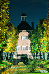 Nieuwpoort. At night (Fotografie Etienne Hessels) Tags: oktober 35mm bomen nacht sony herfst sigma avond 70200 hdr nieuwpoort sloot vesting 2015 avondfotografie a77m2