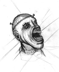 cenobyte head (ashley russell 676) Tags: monster sketch hellraiser cenobyte cenobite