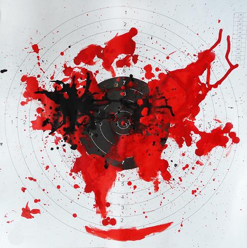 Serie_ VIOLENCIA SIN GENERO. 4_Violencia social y ambiental _Acrílico sobre blancos de cartón54x54_Nov2015