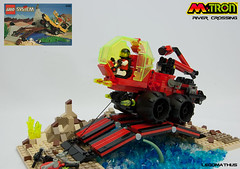 02_MTron_River_Crossing (LegoMathijs) Tags: bridge set river amazon crossing lego crystal space contest mining container planet scifi outback creature magnet miners moc drone 6490 lowlug mtron legomathijs