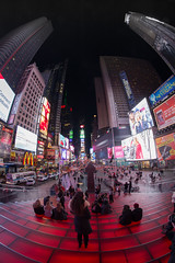 Time Square By Night (Vernamm2) Tags: new york red ny stairs square point nikon view time pov fisheye explore 2015 explored of d7100