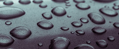 Metal waterdrops (michael.taferner) Tags: cold detail macro water up rain metal canon eos grey drops close bend jalousie crop fixed 28 usm 60mm violett focal lenght 600d apsc tonung