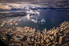 Downtown Seattle, Aerial View (Paddy O) Tags: winter centurylinkfield water mountains buildings 2016 seattle clouds downtownseattle olympicmountains pugetsound downtown cityskyline sky aerialview elliotbay seattleseahawks westseattle portofseattle