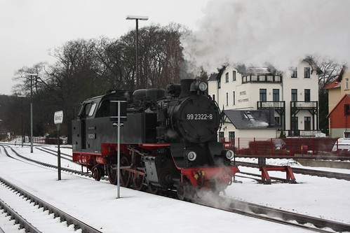 Molli: 99 2322-8 an Bahnsteig 5 in Bad Doberan