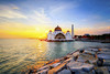 Majestic View Of Malacca Straits Mosque During Sunset. (by nelzajamal) Tags: malacca mosque malaysia melaka nature islamic straits sunrise floating masjid selat blue architecture landscape beautiful sky travel sunset islam building tourism ocean religion landmark city view historical scenic symbol monument beach scene night asia shore dusk attraction dawn twilight belief malaca