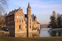 Kasteel (Castle) Wissekerke in Bazel (Waasland-East Flanders) (jackfre 2) Tags: belgium waasland eastflanders bazel castle castlewissekerke kasteelwisserkerke pond winter frozenpond