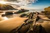 Rocks and the beach (Zimeoni) Tags: landscape seascape oceanscape tamron1530mm nikond610 beach rocks portugal zambujeira goldenhour sunset summer longexposure composition travel backlight